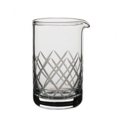 Mixing Beaker with Diamond Cuts by The Modern Mixologist