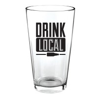 """Drink Local"" Pint Glass"