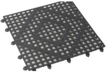 Interlocking Bar Mat, Smoke, Winco
