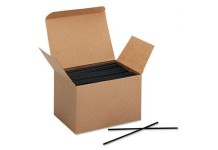 Sipper Straw Black 5.25 Inches (Pack of 1000)