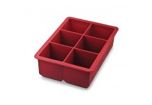 King Cube Ice Trays, Candy Apple Red, by Tovolo