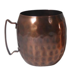 moscow mule mug hammered copper 14 oz - Copper Mule Mugs
